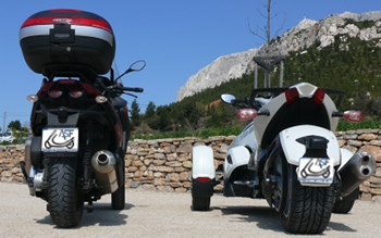 scooters trois roues piaggio bombardier le match mp3 fuoco spyder asso scooter. Black Bedroom Furniture Sets. Home Design Ideas
