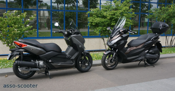 essai comparatif x max forza 125cc duel au sommet pour une place au asso scooter. Black Bedroom Furniture Sets. Home Design Ideas