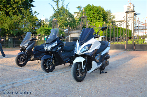 essai comparatif maxi scooters 400cc maxsym xciting x max asso scooter. Black Bedroom Furniture Sets. Home Design Ideas