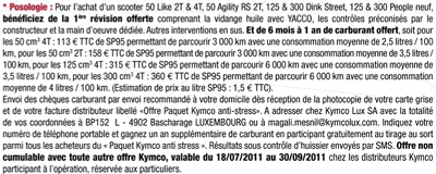 Kymco paquet anti-stress